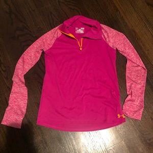 Under Armour dri-fit zip up youth large